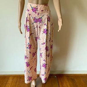 HANDCRAFTED | Floral wide leg trousers